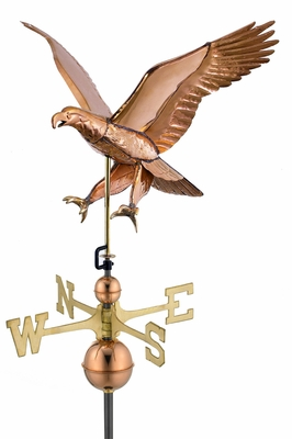 Attack Eagle -Weathervane - Polished Copper by Good Directions