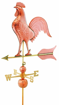Barn Rooster Estate Weathervane - Polished Copper by Good Directions