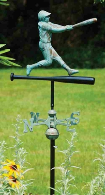 Weather Vane - Charming Baseball Player Weathervane For Your Roof Brand Good Direction