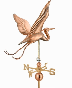 Blue Heron Estate Weathervane - Polished Copper by Good Directions