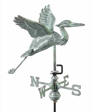 Weather Vane - Charming Blue Heron Weathervane For Your Roof Brand Good Direction
