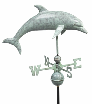 Dolphin Weathervane - Blue Verde Copper by Good Directions