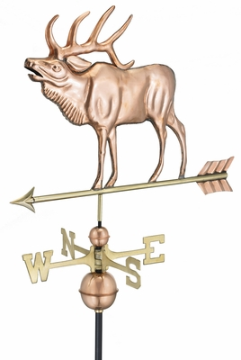 Elk Weathervane - Polished Copper by Good Directions