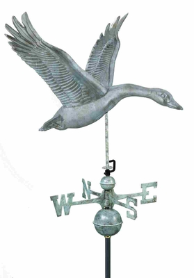 Weather Vane - Charming Feathered Goose Weathervane For Your Roof Brand Good Direction