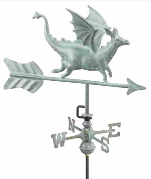 Weather Vane - Charming Flying Dragon Weathervane For Your Roof Brand Good Direction