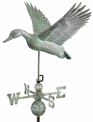 Weather Vane - Charming Flying Duck Weathervane For Your Roof Brand Good Direction