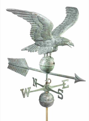 Weather Vane - Charming Flying Eagle Weathervane For Your Roof Brand Good Directions