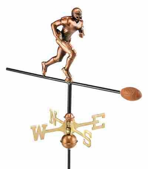 Weather Vane - Charming Football Player Weathervane For Your Roof Brand Good Direction