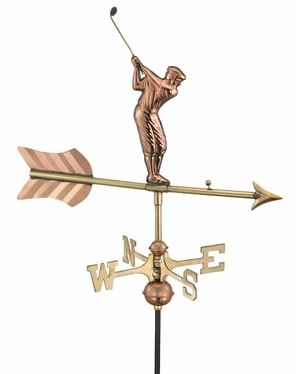 Weather Vane - Charming Garden Golfer Weathervane For Your Roof Brand Good Direction