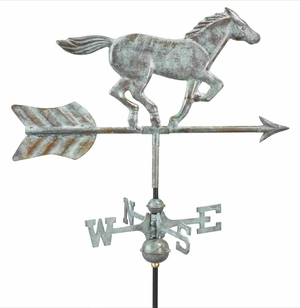 Weather Vane - Charming Garden Horse Weathervane For Your Roof Brand Good Direction