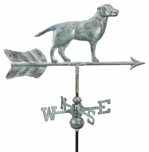 Weather Vane - Charming Garden Labrador Weathervane For Your Roof Brand Good Direction