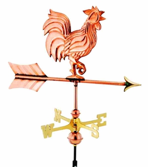 Weather Vane - Charming Garden Rooster Weathervane For Your Roof Brand Good Direction