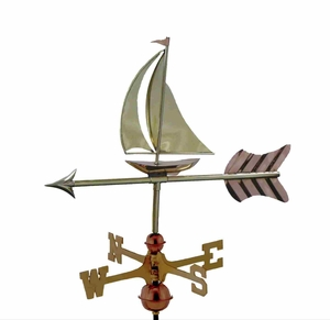 Weather Vane - Charming Garden Sailboat Weathervane For Your Roof Brand Good Direction
