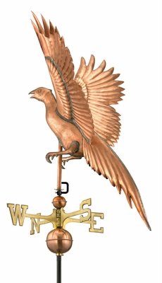 Pheasant Weathervane - Polished Copper by Good Directions