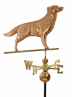 Golden Retriever Weathervane - Polished Copper by Good Directions
