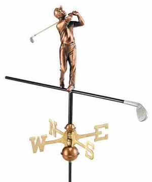 Weather Vane - Charming Golfer Weathervane For Your Roof Brand Good Direction