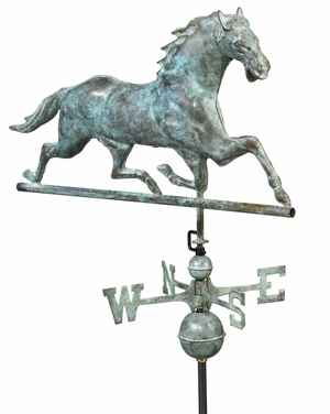 Horse Weathervane - Blue Verde Copper by Good Directions