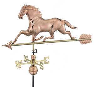 Horse Weathervane - Polished Copper by Good Directions