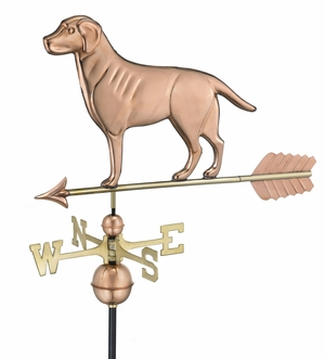 Labrador Retriever Weathervane - Polished Copper by Good Directions