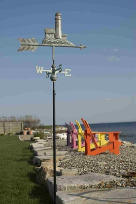 Weather Vane - Charming Lighthouse Weathervane For Your Roof Brand Good Direction