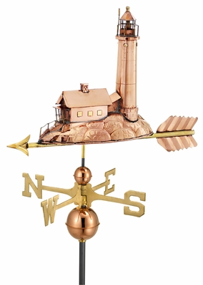 Lighthouse Weathervane - Polished Copper by Good Directions