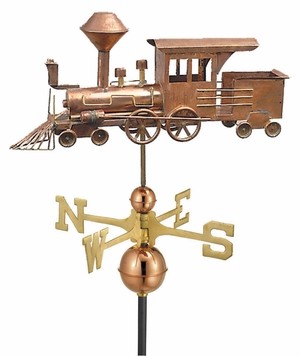 Locomotive Weathervane - Polished Copper by Good Directions