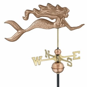 Mermaid Weathervane - Polished Copper by Good Directions