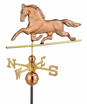 Patchen Horse Weathervane - Polished Copper by Good Directions