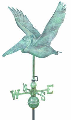 Pelican Weathervane - Blue Verde Copper by Good Directions