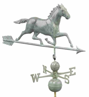 Weather Vane - Charming Running Horse Weathervane For Your Roof Brand Good Direction