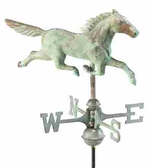 Weather Vane - Charming Stallion Weathervane For Your Roof Brand Good Direction