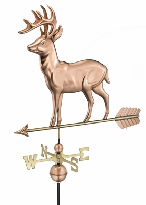 Standing Deer Weathervane - Polished Copper by Good Directions