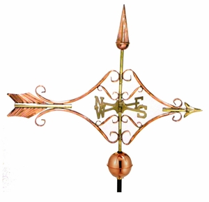 Victorian Arrow Weathervane - Polished Copper by Good Directions