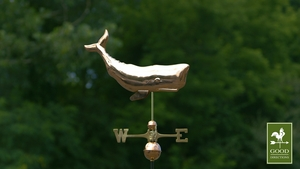 "28"" Whale Weathervane - Polished Copper by Good Directions"