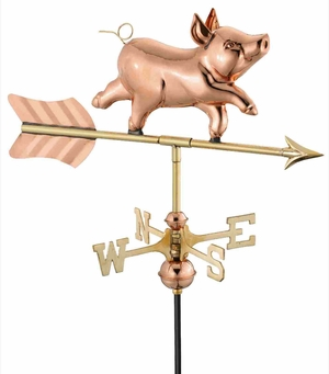 Weather Vane - Charming Whimsical Pig Weathervane For Your Roof Brand Good Direction
