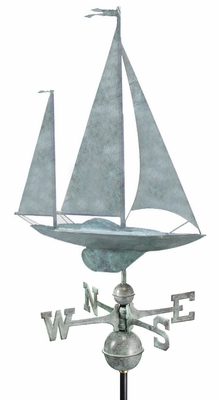Yawl Weathervane - Blue Verde Copper by Good Directions