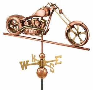 Chopper Weathervane - Polished Copper by Good Directions
