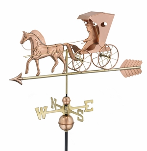 Country Doctor Weathervane - Polished Copper by Good Directions