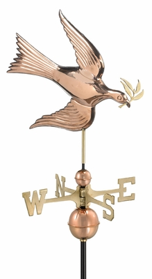 Dove Weathervane - Polished Copper by Good Directions