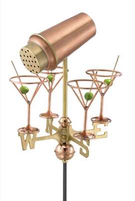 Weather Vane - Martini And Glasses Weathervane For Your Roof Brand Good Direction