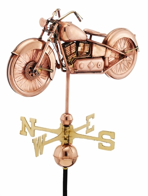 Motorcycle Weathervane - Polished Copper by Good Directions