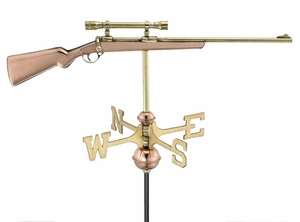 Weather Vane - Rifle And Scope Weathervane For Your Roof Brand Good Direction