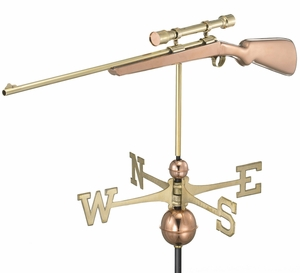 Rifle with Scope Weathervane - Polished Copper by Good Directions