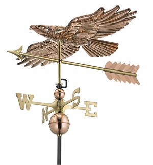 Soaring Hawk Weathervane - Polished Copper by Good Directions