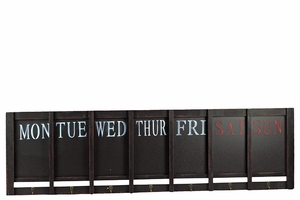 Week Themed Wooden Modern Blackboard