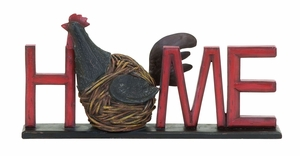 Welcome Garden Hen Home Sign From Heavy Polystone Cast Brand Woodland
