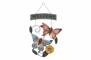 Welcome Metal Wall Decor 33 Inch Height, 20 Inch Width Brand Woodland