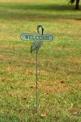 Welcoming Crane Garden Stake To Unique Garden D�cor Brand SPI-HOME