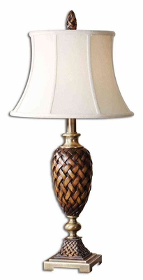 Weldon Table Lamp with Bronze Metal Details in Gold Brand Uttermost