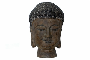 Well Craved Divine Amazing Resin Buddha Head by Urban Trends Collection